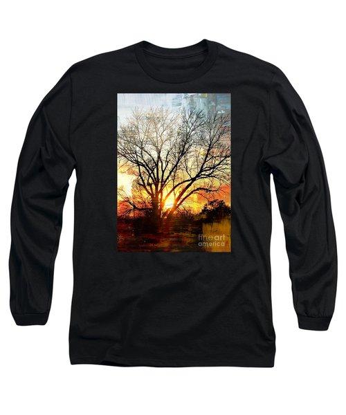 Kansas Sunset Long Sleeve T-Shirt