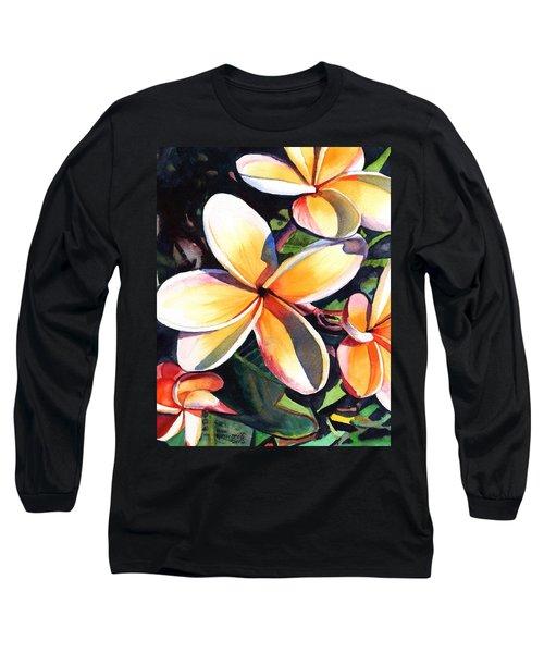Kauai Rainbow Plumeria Long Sleeve T-Shirt