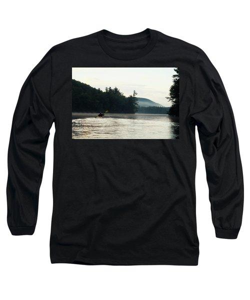 Kayak In The Fog Long Sleeve T-Shirt