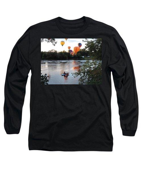 Kayaks And Balloons Long Sleeve T-Shirt