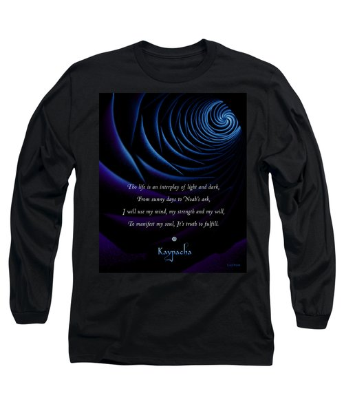 Kaypacha's Mantra 4.28.2015 Long Sleeve T-Shirt by Richard Laeton