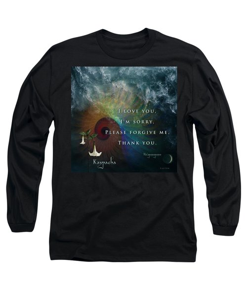 Kaypacha's Mantra 7.15.2015 Long Sleeve T-Shirt by Richard Laeton