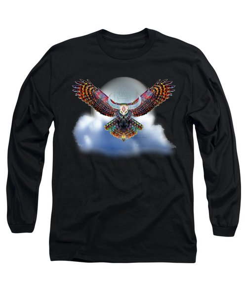 Keeper Of The Night Long Sleeve T-Shirt by Iowan Stone-Flowers