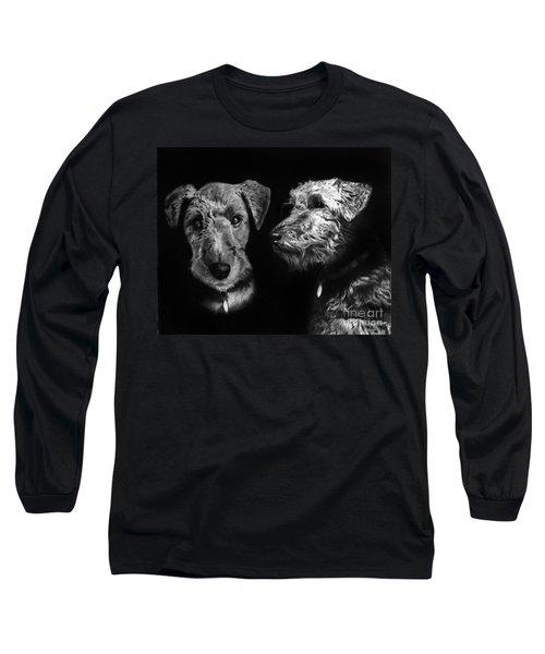 Keeper The Welsh Terrier Long Sleeve T-Shirt by Peter Piatt
