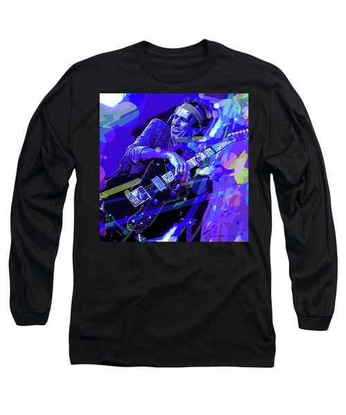 Keith Richards Blue Long Sleeve T-Shirt