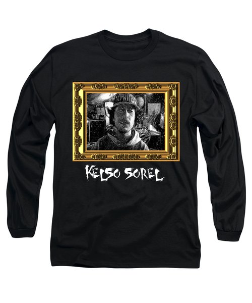 Long Sleeve T-Shirt featuring the painting Kelso Sorel by Chief Hachibi
