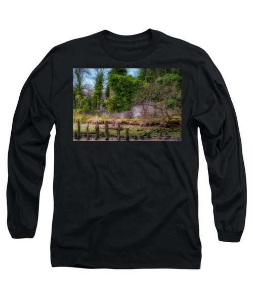 Long Sleeve T-Shirt featuring the photograph Kennetpans Distillery Ruins by Jeremy Lavender Photography