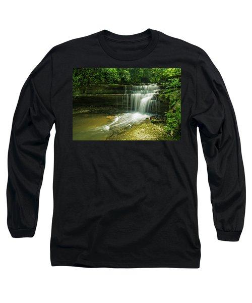 Kentucky Waterfalls Long Sleeve T-Shirt by Ulrich Burkhalter