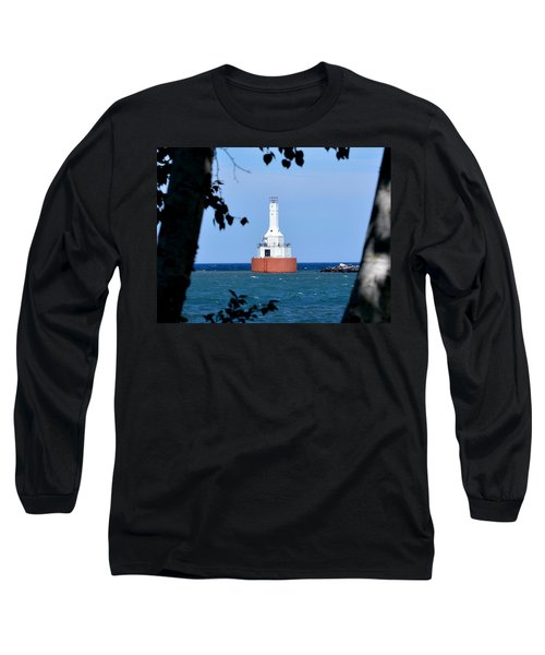 Keweenaw Waterway Lighthouse. Long Sleeve T-Shirt by Keith Stokes