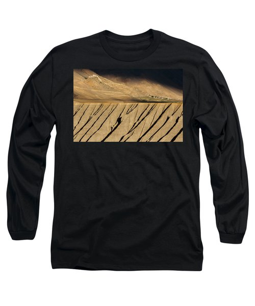 Long Sleeve T-Shirt featuring the photograph Key Monastery And Spiti Valley, Spiti, 2008 by Hitendra SINKAR