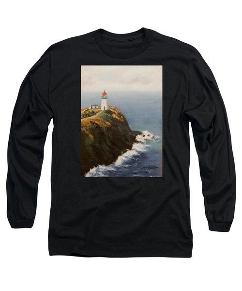Kilauea Lighthouse Long Sleeve T-Shirt by Alan Mager