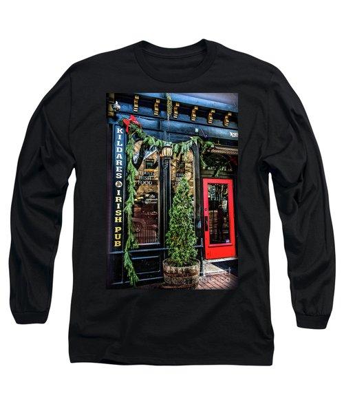 Kildares Irish Pub At Christmas Long Sleeve T-Shirt