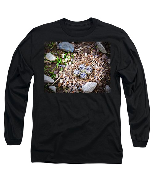 Killdeer Nest Long Sleeve T-Shirt by Cricket Hackmann