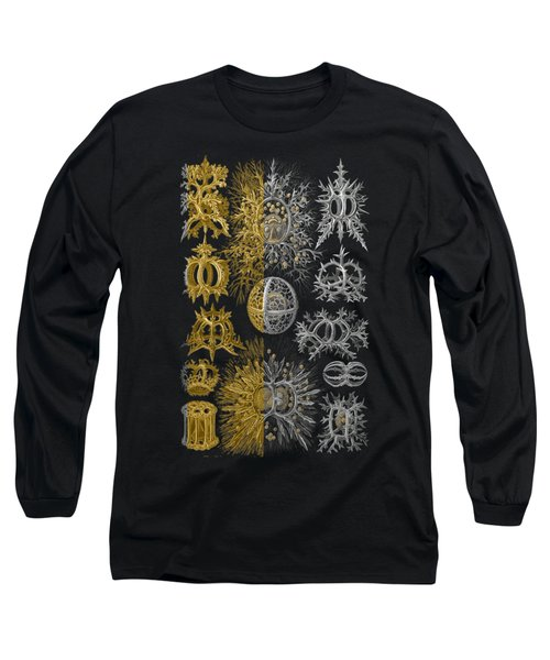 Long Sleeve T-Shirt featuring the digital art Kingdom Of Silver Single-celled Organisms  by Serge Averbukh