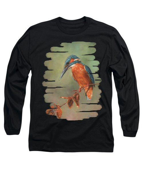 Kingfisher Perched Long Sleeve T-Shirt
