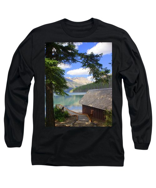 Kintla Lake Ranger Station Glacier National Park Long Sleeve T-Shirt