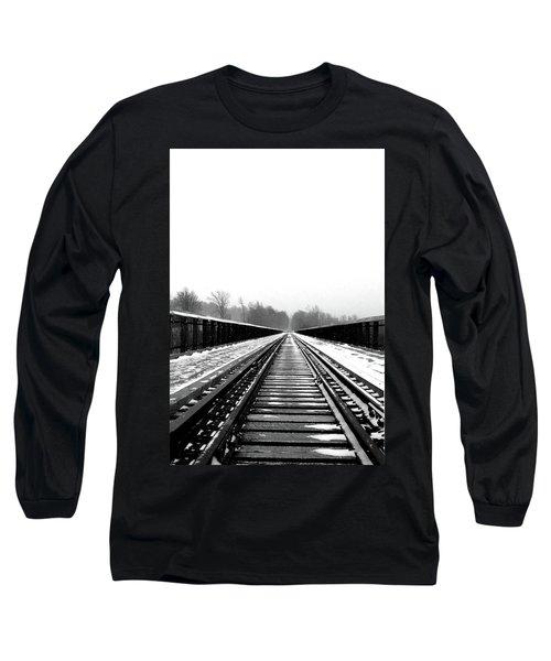 Kinzua Bridge Skywalk Long Sleeve T-Shirt by Sharon Batdorf