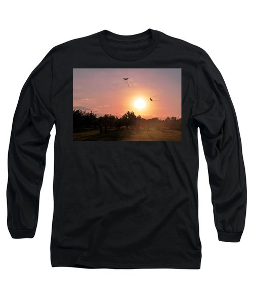Kites Flying In Park Long Sleeve T-Shirt