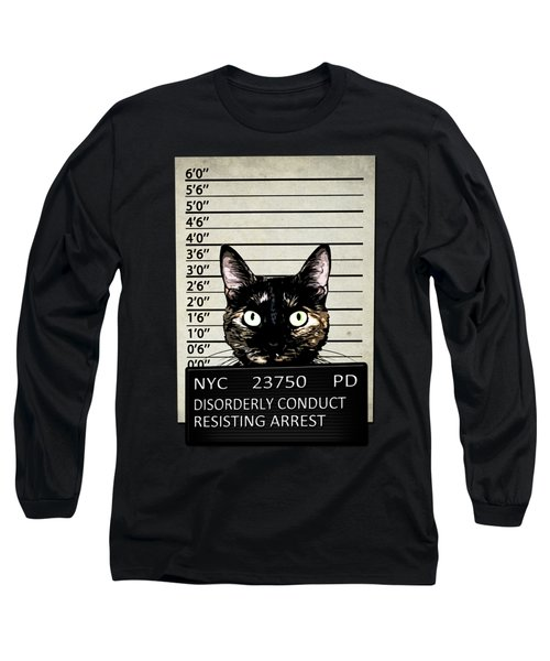 Kitty Mugshot Long Sleeve T-Shirt