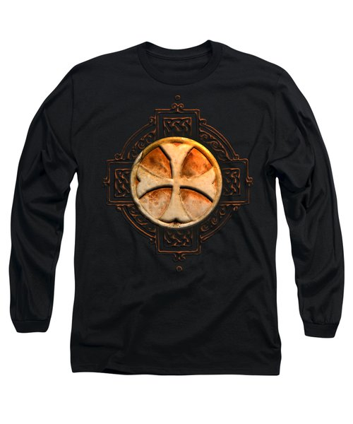 Knights Templar Symbol Re-imagined By Pierre Blanchard Long Sleeve T-Shirt by Pierre Blanchard