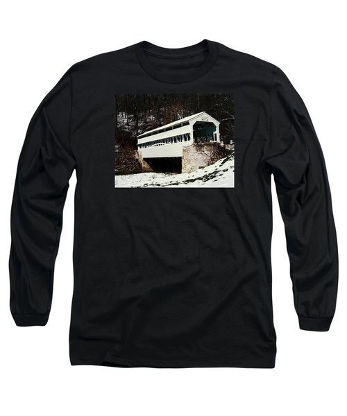Knox Covered Bridge Historical Place Long Sleeve T-Shirt