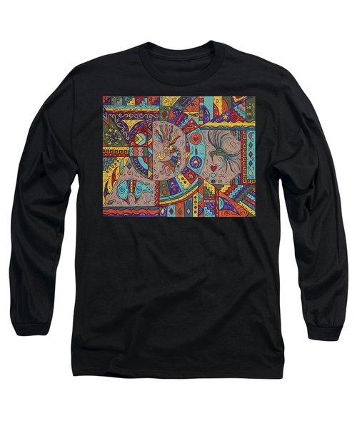 Kokopelli Mandala Long Sleeve T-Shirt