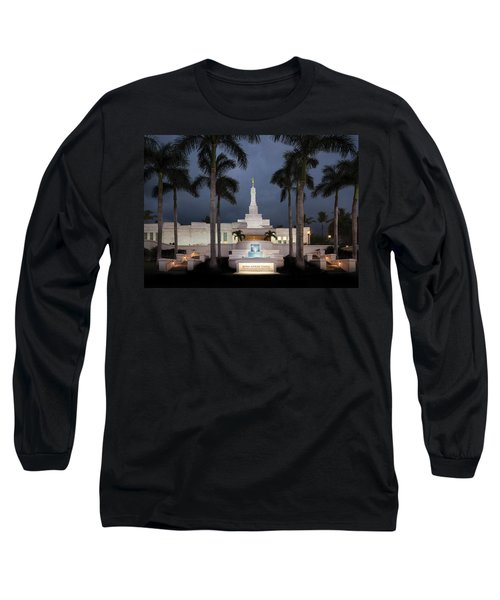 Kona Hawaii Temple-night Long Sleeve T-Shirt
