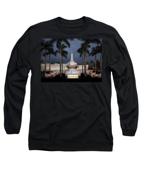 Kona Hawaii Temple-night Long Sleeve T-Shirt