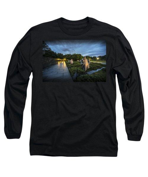 Long Sleeve T-Shirt featuring the photograph Korean War Memorial by David Morefield