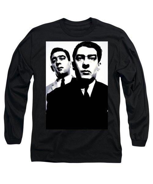 Kray Twins Long Sleeve T-Shirt by Luis Ludzska