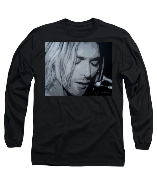 Long Sleeve T-Shirt featuring the painting Kurt Cobain by Ashley Price