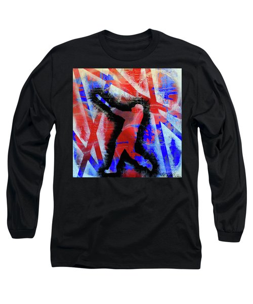 Kyle Schwarber - #letsgo Long Sleeve T-Shirt by Melissa Goodrich