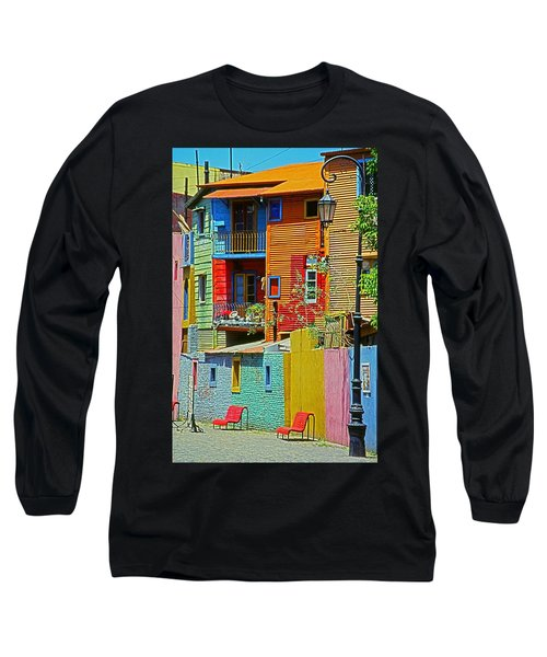 La Boca - Buenos Aires Long Sleeve T-Shirt by Juergen Weiss