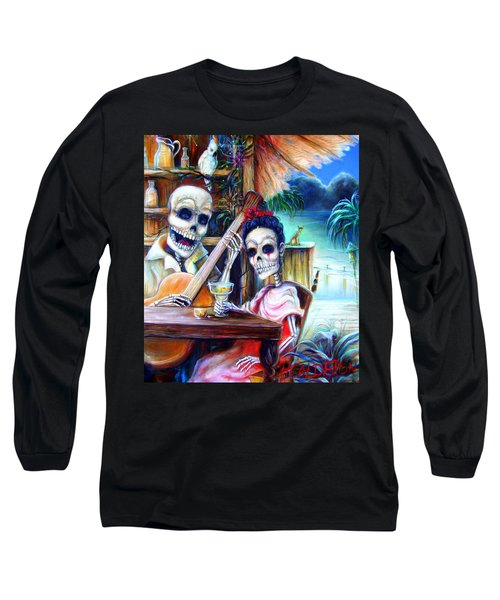 Long Sleeve T-Shirt featuring the painting La Borracha by Heather Calderon