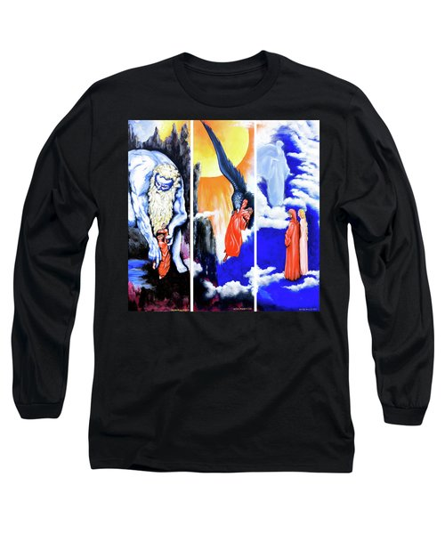 La Divina Commedia Long Sleeve T-Shirt by Victor Minca