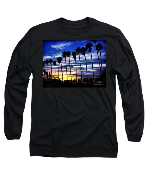La Jolla Silhouette - Digital Painting Long Sleeve T-Shirt by Sharon Soberon