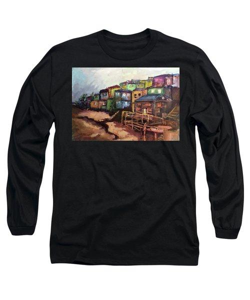 La Perla De Puerto Rico Long Sleeve T-Shirt by Janet Garcia