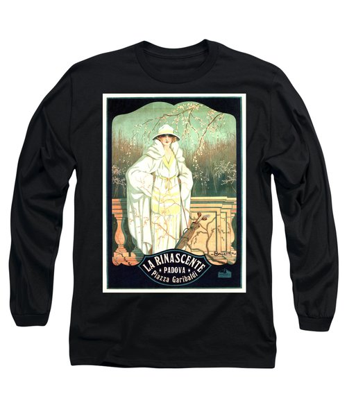 La Rinascente - Italian Store - Vintage Advertising Poster Long Sleeve T-Shirt
