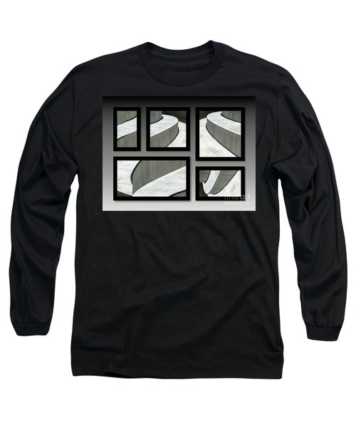 Long Sleeve T-Shirt featuring the photograph La Stairs Collage 01a by Ausra Huntington nee Paulauskaite