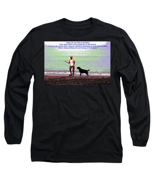 Long Sleeve T-Shirt featuring the mixed media Labrador Retriever by Charles Shoup