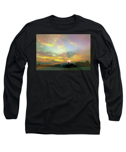 Long Sleeve T-Shirt featuring the photograph Lackawanna Transit Sunset by Diana Angstadt