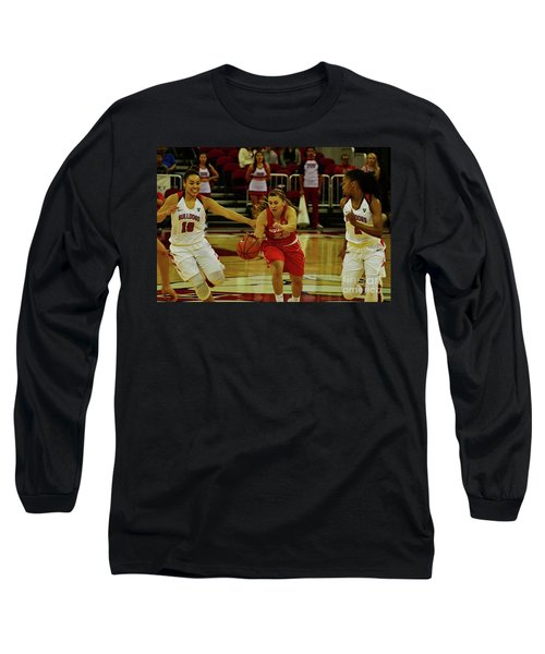 Long Sleeve T-Shirt featuring the photograph Ladies Basketball by Debby Pueschel