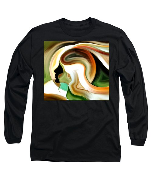 Lady Of Color Long Sleeve T-Shirt by Karen Showell