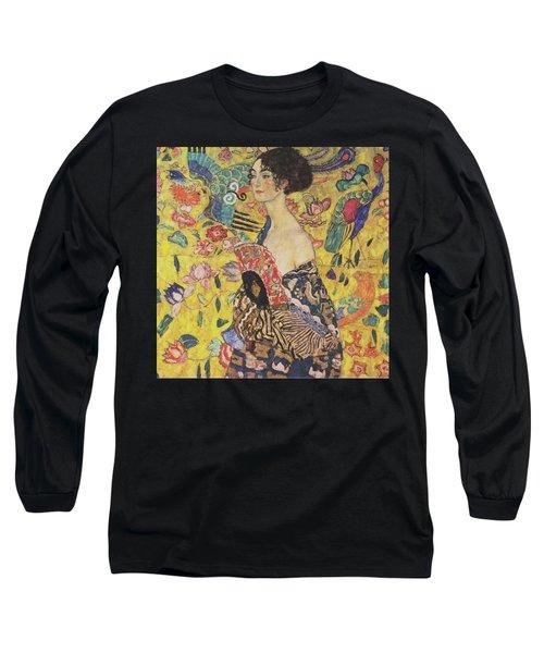 Lady With Fan Long Sleeve T-Shirt