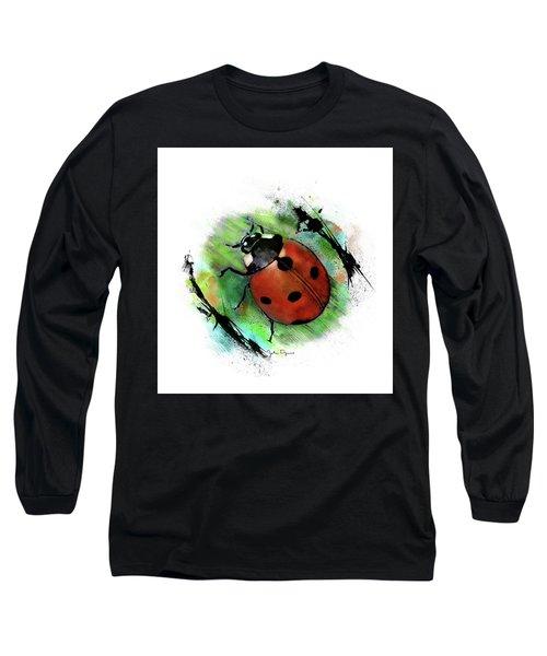 Ladybug Drawing Long Sleeve T-Shirt