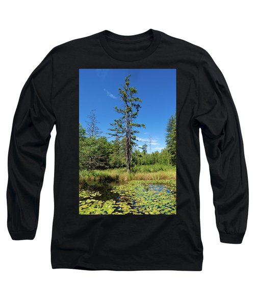 Long Sleeve T-Shirt featuring the photograph Lake Birkensee Nature Park Schoenbuch Germany by Matthias Hauser