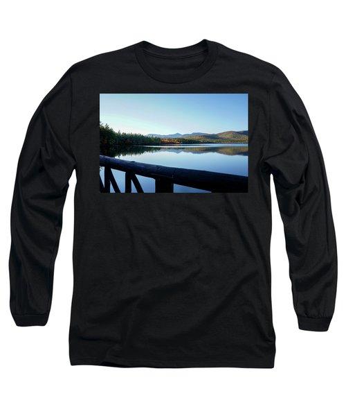 Lake Chocorua Autumn Long Sleeve T-Shirt by Nancy De Flon
