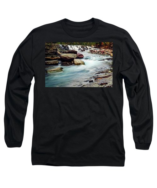 Lake Mcdonald Falls, Glacier National Park, Montana Long Sleeve T-Shirt