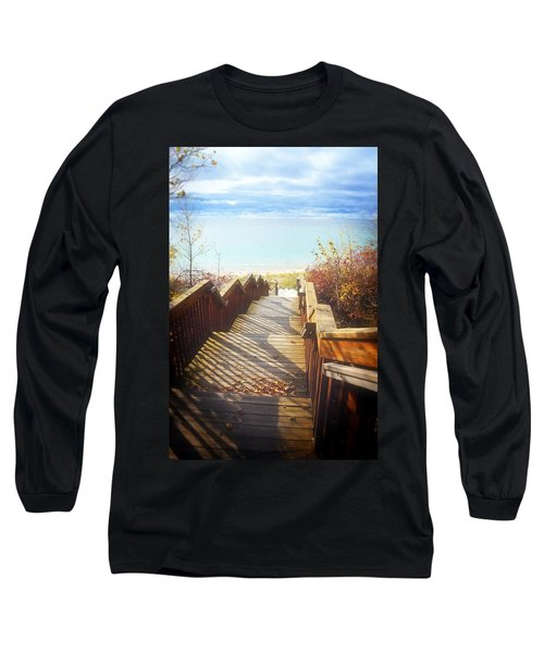 Long Sleeve T-Shirt featuring the photograph Lake Michigan In The North by Michelle Calkins