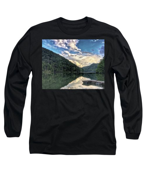 Long Sleeve T-Shirt featuring the photograph Lake Reflections by Kerri Farley